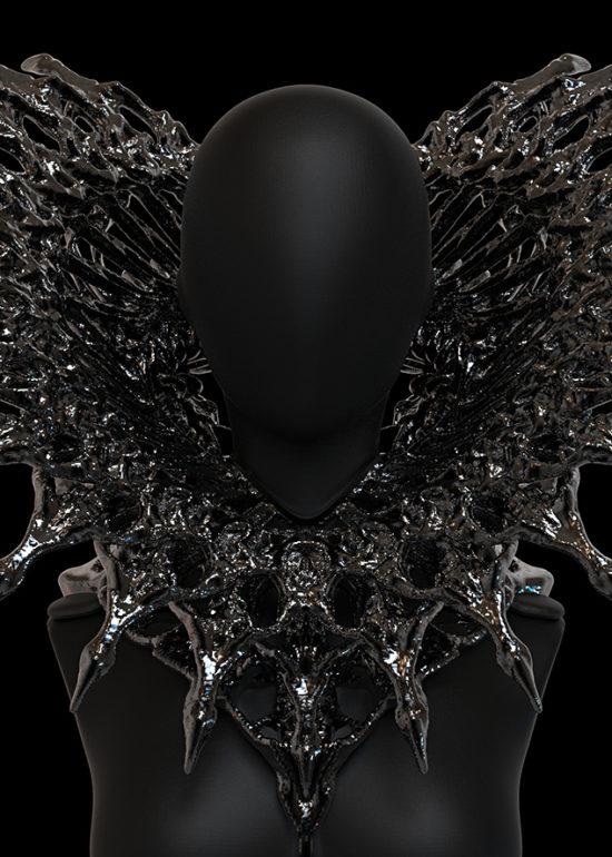Work-in-progress digital sculpts for alien queen costume project